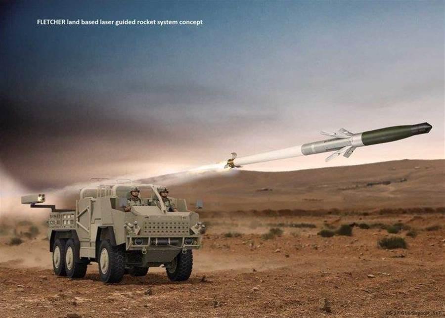 阿諾德公司打算在地面車輛上安裝可導引火箭彈,提高作戰車輛的火力。(圖/阿諾德公司)