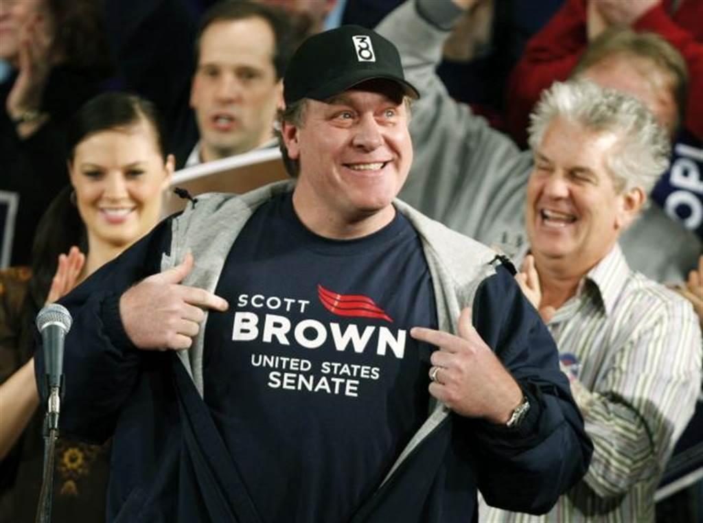 前大聯盟名投手席林(前)第9次在棒球名人堂票選失利。(美聯社資料照)