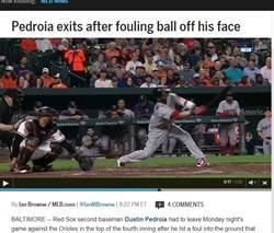 MLB》派卓亞臉中彈傷退 紅襪延長11局克金鶯