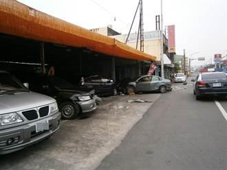 通緝犯毒癮發作  一路撞6部車