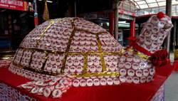 蘇澳鎮公所打造「旺旺大壽龜」 為土地公祝壽
