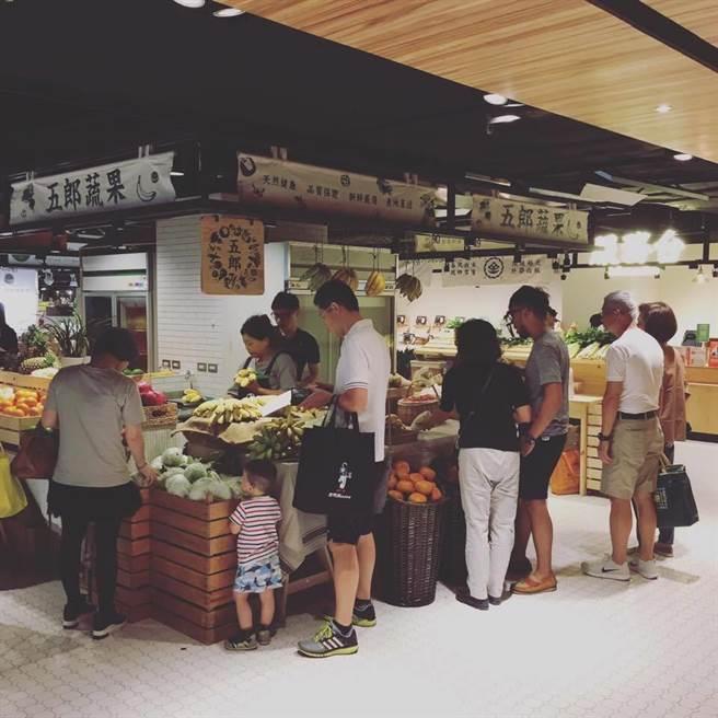 金典綠園道「第六市場」開了,成為全台第一家在百貨公司的傳統菜市場!(圖/業者)