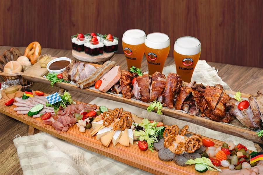 台北101德國啤酒節,溫德A套餐:巴伐利亞樂園,8人份,每人2000元。(台北101提供)
