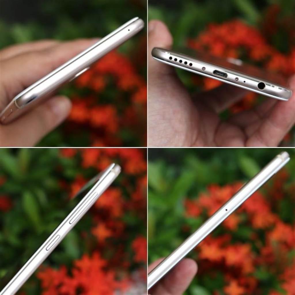 ZF4 Selfie Pro機身側面,由左上角順時針起,分別是頂端、底部、右側,以及左側機身。(圖/黃慧雯攝)