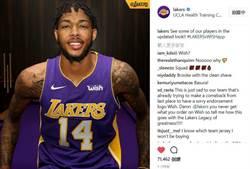 NBA》湖人敲定球衣廣告合約 價值超越騎士