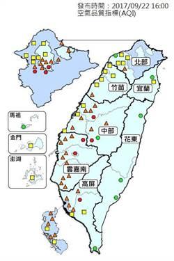 空氣汙染持續 中南部呈紅色警戒