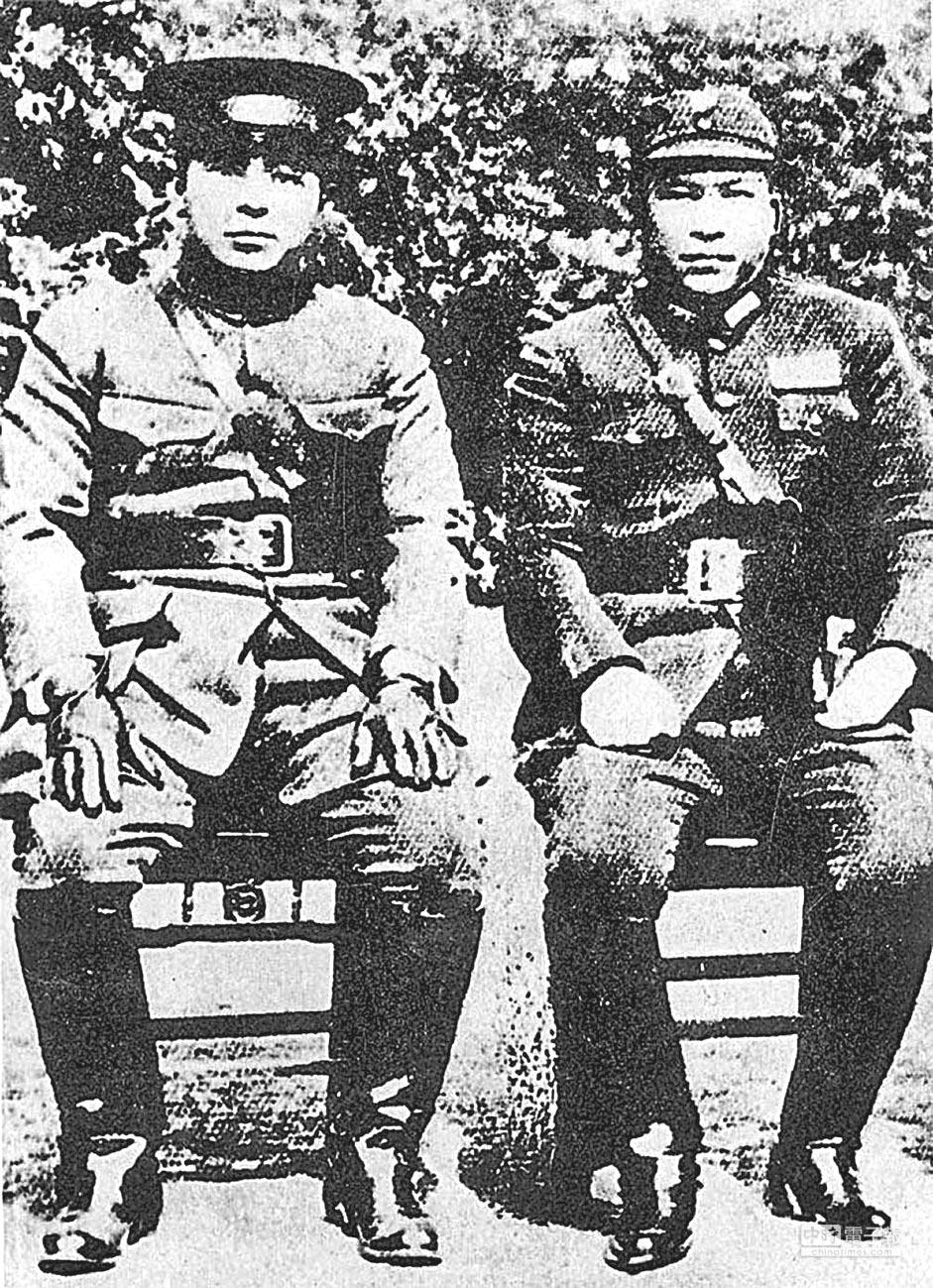 西安事變的主角張學良(左)與楊虎城(右)。(本報系資料照片)