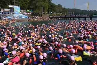 日月潭公開水域游泳錦標賽10公里組 卓承齊奪冠