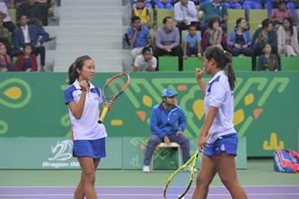 亞室運》網球女雙張魏配進4強 獎牌確定入袋