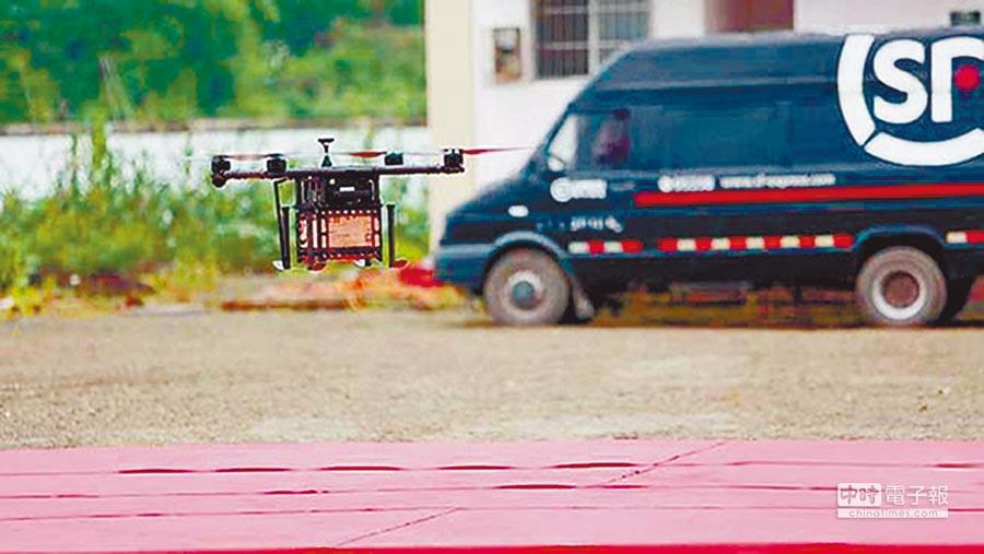 順豐在位於贛州市南康區的物流無人機示範運行區,進行首次飛行。(取自澎湃新聞網)