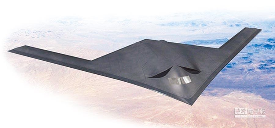 大陸隱形轟炸機「轟-20」想像圖。(取自網路)