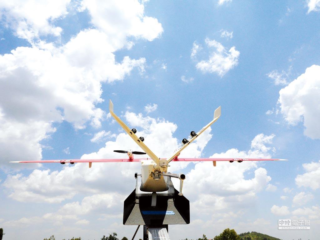 東非無人機送貨起飛圖╱路透
