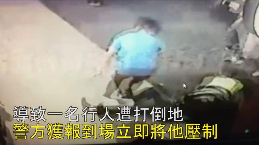捷運驚傳隨機毆人 醉漢失控打傷無辜民眾