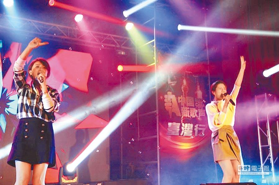 《中國新歌聲》台灣行去年在台灣多所大學及高中造成轟動。(中國新歌聲提供)
