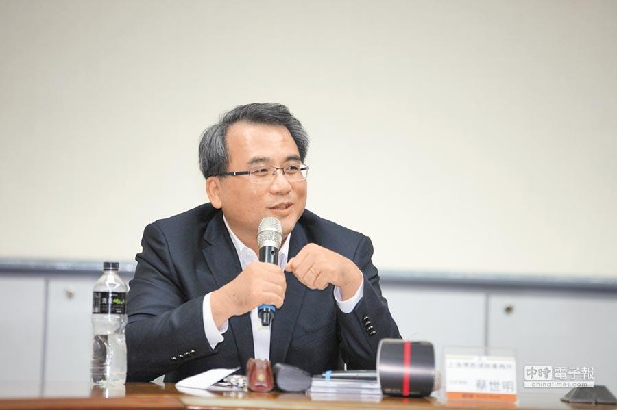 上海博恩律師事務所主持律師蔡世明。(記者林誌鈺攝)