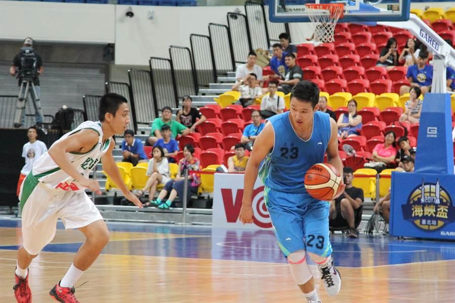 南模中學洪仲樺(右)攻下賽會單場最高45分。(林宋以情攝)