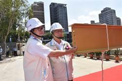 竹北國民運動中心上梁 預計明年完工