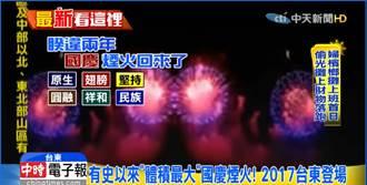 熱氣球升空光雕秀 國慶煙火首次台東登場