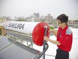 台灣櫻花 推雙循環太陽能熱水器