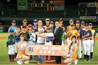 統一獅回饋台南市三級棒球 免費看球贈球具