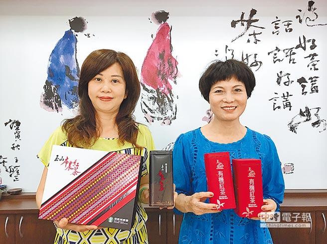 信義鄉農會梅子夢工廠輔導農民栽植並推廣「玉山布農紅茶」、「玉山巒紅有機紅茶」,很受歡迎。(沈揮勝攝)