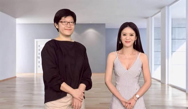 物理治療師潘懿玲(左)接受健康50節目主持人尉遲佩玉(右)專訪,談腦性麻痺的物理治療。(林勝發、易繼中攝)