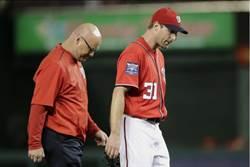 MLB》國民好衰...哈波復出後換賽揚王牌傷退