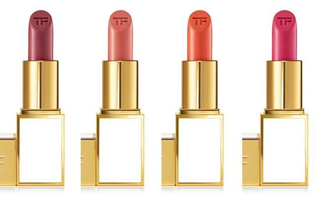 (左至右)飽和女神唇膏(2g)/1,300元(熱賣色#06 INES、#13 ISLA、#14 ANNE、#19 ASHLEY)(圖/TOM FORD提供)