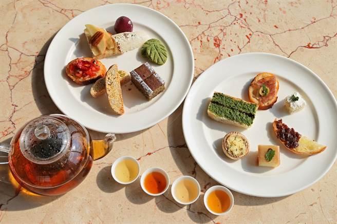 茶博首創「茶佐餐」,雲品打頭陣,推出義大利美食茶點。(廖志晃攝)