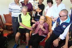 苗縣長慰問3百歲人瑞 110歲黃郭蝦做甩手功