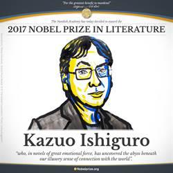 《長日將盡》作者 英籍日裔石黑一雄獲諾貝爾文學獎