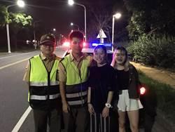 為吃宵夜誤闖快速道路 警車迅速馳往護人
