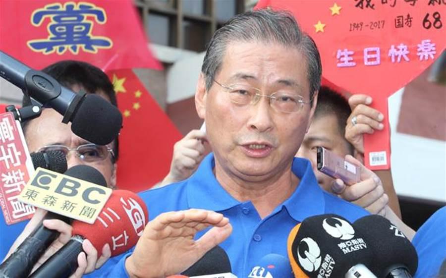 中華統一促進黨總裁張安樂。(報系資料照 陳怡誠攝)