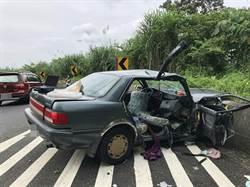 阿里山公路自小客車自撞護欄 四人受傷送醫