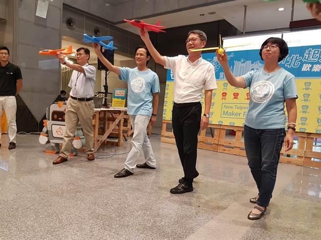新北市勞工局舉辦第2屆「新北市自造者嘉年華」將於14日、15日兩天登場,副市長葉惠青出席宣傳記者會,鼓勵民眾多多參加。(葉書宏攝)