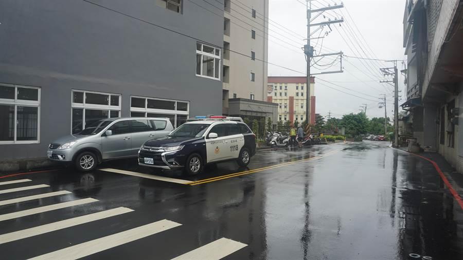 龍潭區干城路與高楊南路拓寬工程完工,12日舉辦啟用典禮,道路「開瓶」後,對民眾通行更加便利。(賴佑維攝)