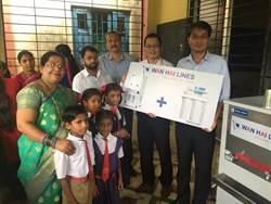 萬海傳愛 捐贈物資予印度五所小學