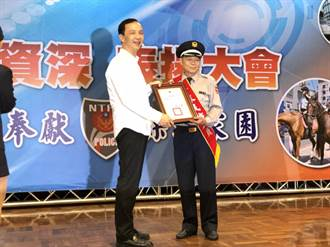 表揚資深民防人員 朱立倫:感謝為市民犧牲奉獻
