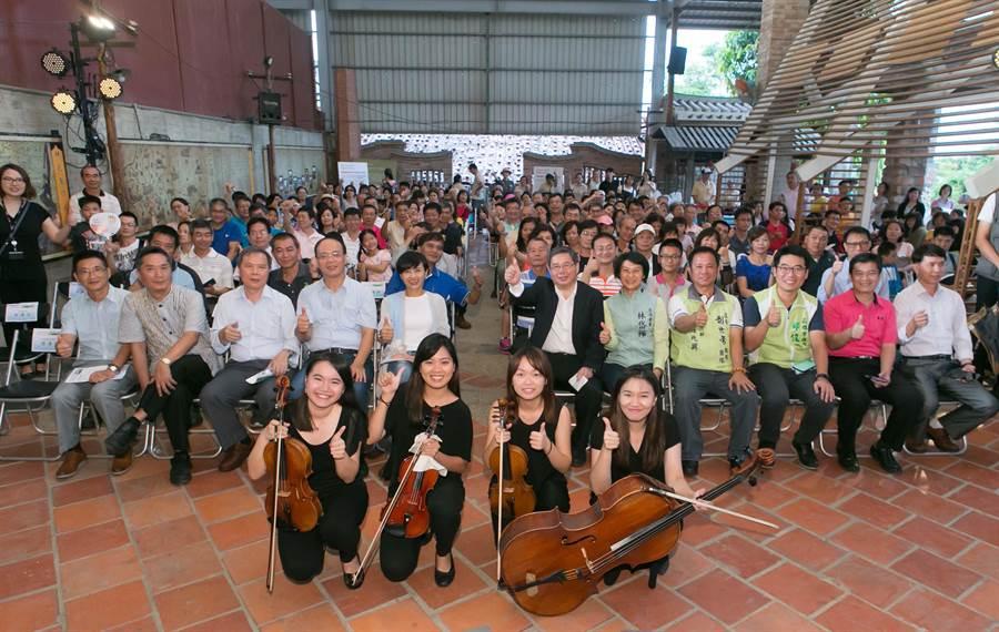 舊鐵橋濕地舉辦音樂會,讓民眾感受環保生態的獨特魅力。 (林雅惠攝)