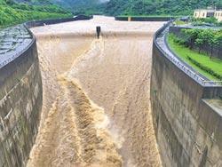暴雨襲 員山子分洪道3度分洪