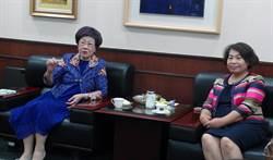 呂秀蓮拜會南市議會 倡議投資和平運動