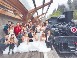 神木下婚禮 14對新人互許終身