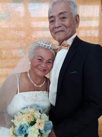 7對老夫婦慶重陽 口湖遊客中心拍婚紗