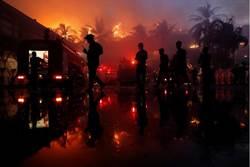 緬甸著名地標大火 仰光皇宮酒店付之一炬1死
