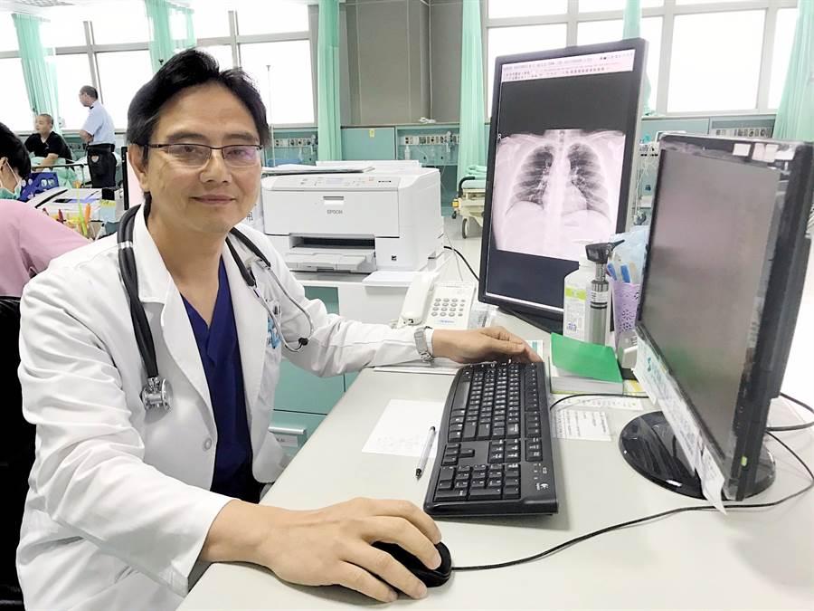 烏日林新醫院急診醫學科醫師蔣偉文指出,台灣每年新增皮肌炎患者約有百來人。(翻攝照片)