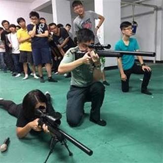 狙擊神射手研習 台中科大學生體驗射擊