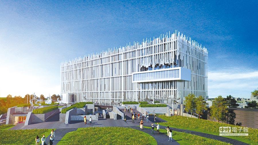 新北市立美術館已流標3次,議員痛批市府刻意拖延到任期結束,逃避責任。圖為美術館設計圖。(文化局提供)