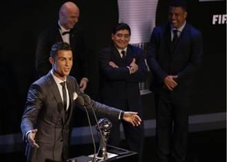 C羅蟬聯2017世界足球先生