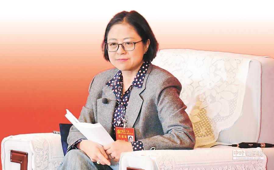 中共十九大台籍黨代表盧麗安。(陳柏廷攝)