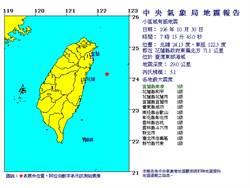 今晨雙震!5:50南投4.1淺層地震 7:15花蓮5.1地震